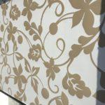 Roleta materiałowa wzór kwiatów